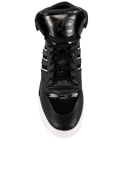 Image 4 of Y-3 Yohji Yamamoto Hayworth Sneaker in Black