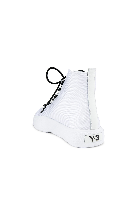 Image 3 of Y-3 Yohji Yamamoto Bashyo Hi-Top Sneaker in White