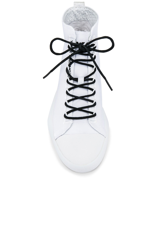 Image 4 of Y-3 Yohji Yamamoto Bashyo Hi-Top Sneaker in White