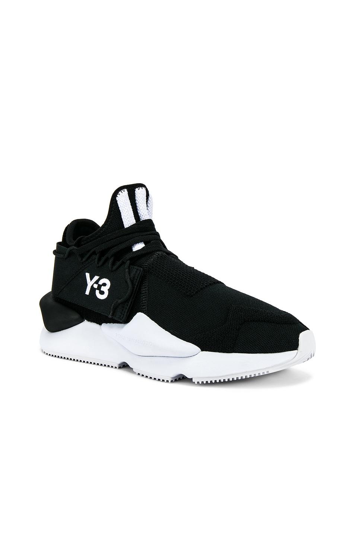 2e7a387bb9aa9 Image 1 of Y-3 Yohji Yamamoto Kaiwa Knit Sneaker in Black   White