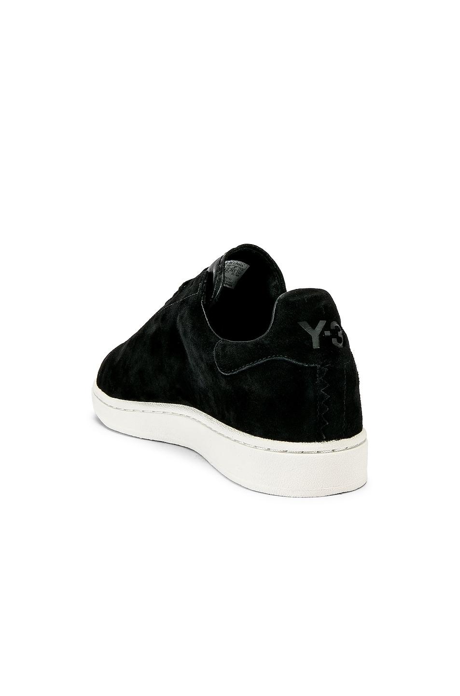 Image 3 of Y-3 Yohji Yamamoto Court Sneaker in Core Black