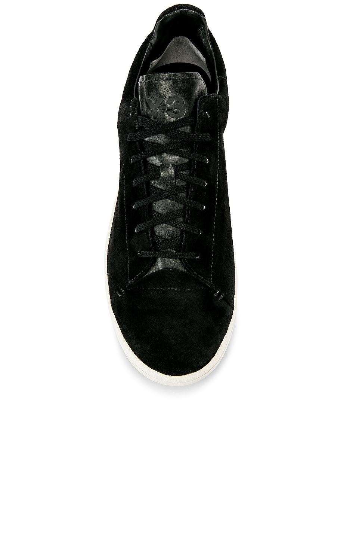 Image 4 of Y-3 Yohji Yamamoto Court Sneaker in Core Black