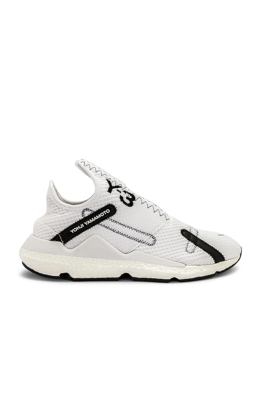 Image 2 of Y-3 Yohji Yamamoto Reberu Sneaker in White & Black