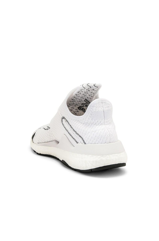 Image 3 of Y-3 Yohji Yamamoto Reberu Sneaker in White & Black
