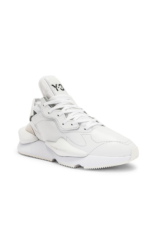 Image 1 of Y-3 Yohji Yamamoto Kaiwa Sneaker in White & Black
