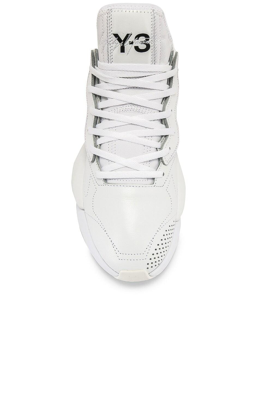 Image 4 of Y-3 Yohji Yamamoto Kaiwa Sneaker in White & Black