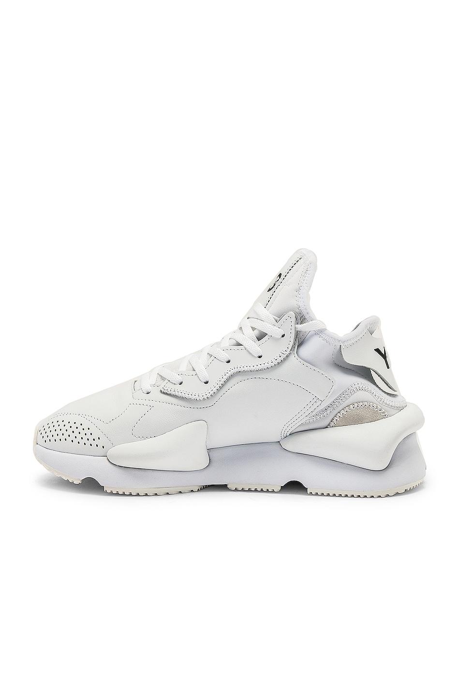 Image 5 of Y-3 Yohji Yamamoto Kaiwa Sneaker in White & Black