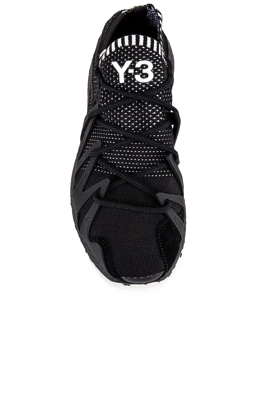 Image 4 of Y-3 Yohji Yamamoto Raito Racer in Black Y3 & Black Y3 & White