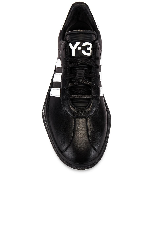 Image 4 of Y-3 Yohji Yamamoto Tangutsu Football in Black Y3 & White & Black Y3