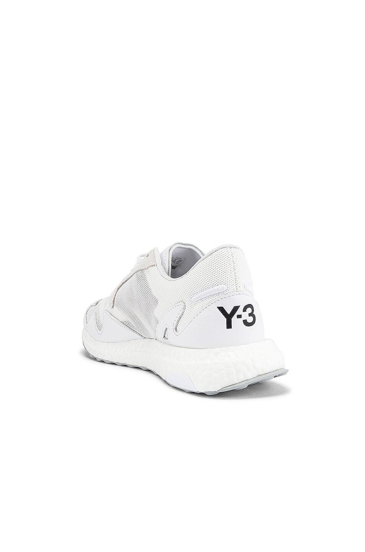 Image 3 of Y-3 Yohji Yamamoto Rhisu Runner in White & Black & White