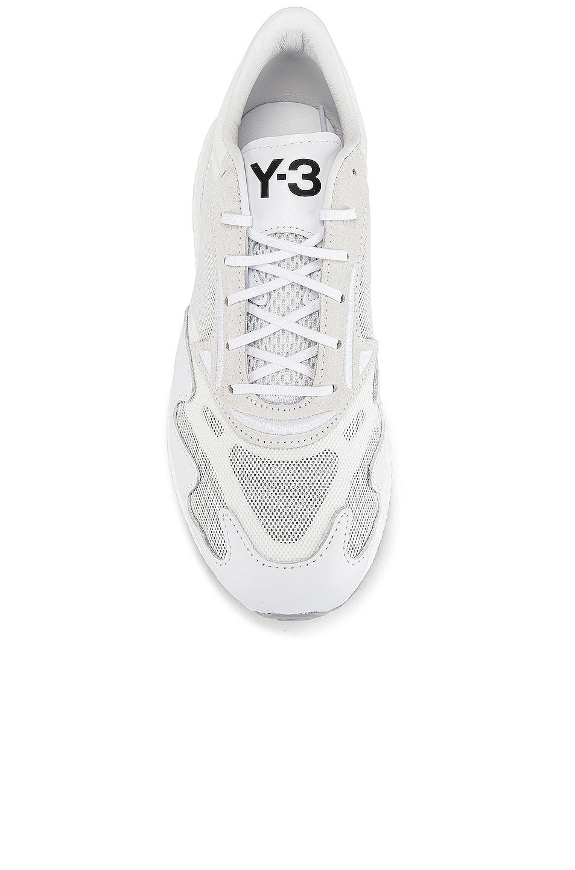 Image 4 of Y-3 Yohji Yamamoto Rhisu Runner in White & Black & White