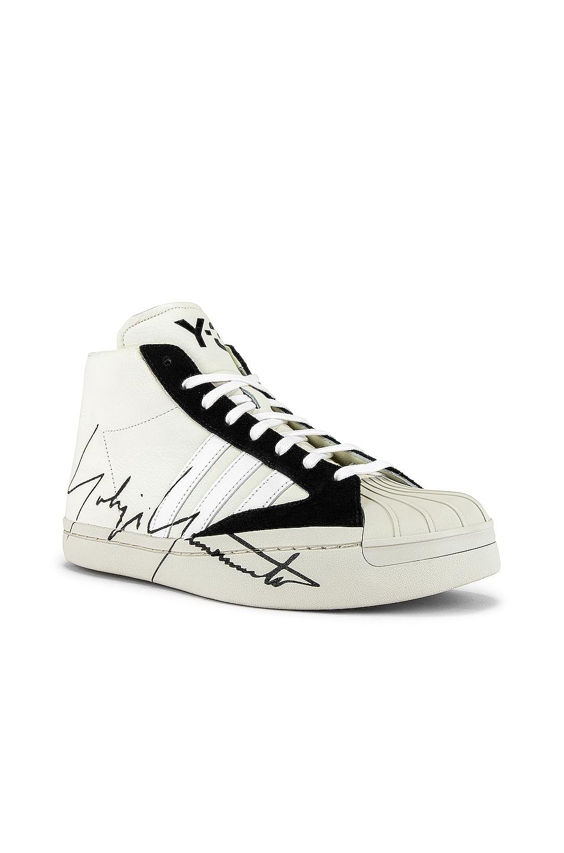 Image 1 of Y-3 Yohji Yamamoto Pro Sneaker in Off White & Black & Ecru
