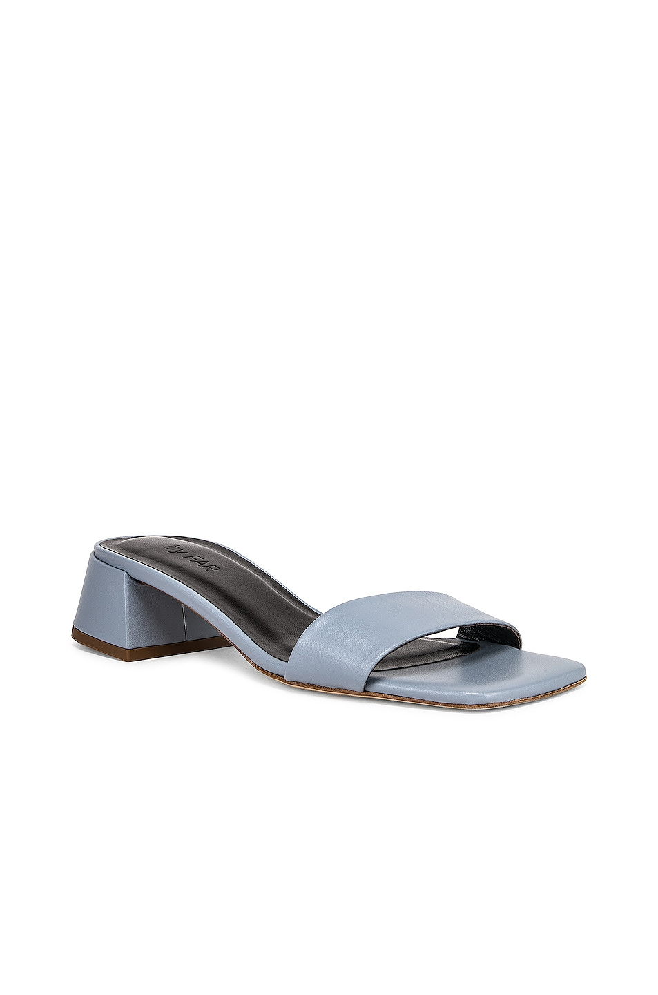 Image 2 of BY FAR Courtney Leather Sandal in Light Blue