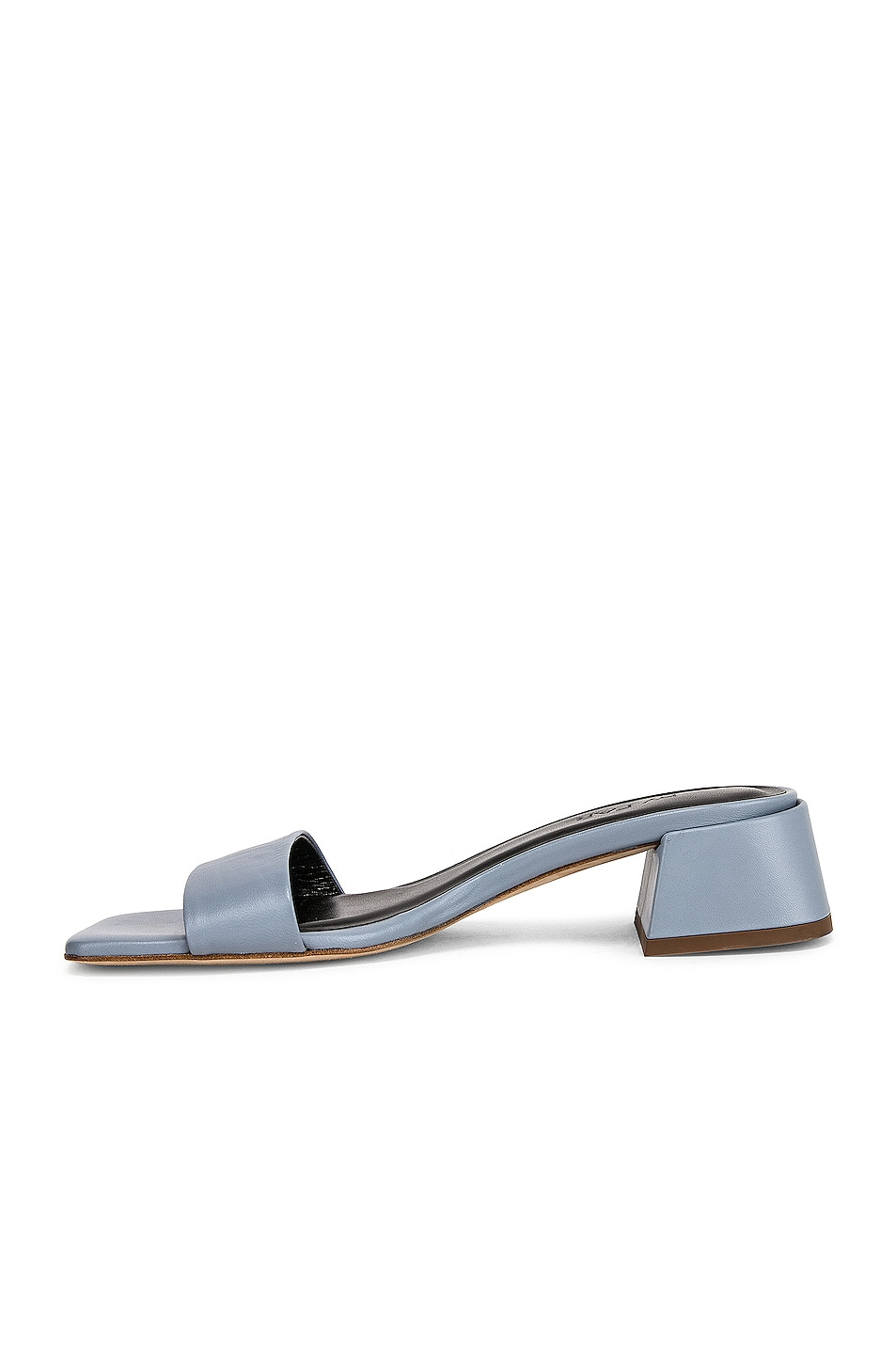 Image 5 of BY FAR Courtney Leather Sandal in Light Blue