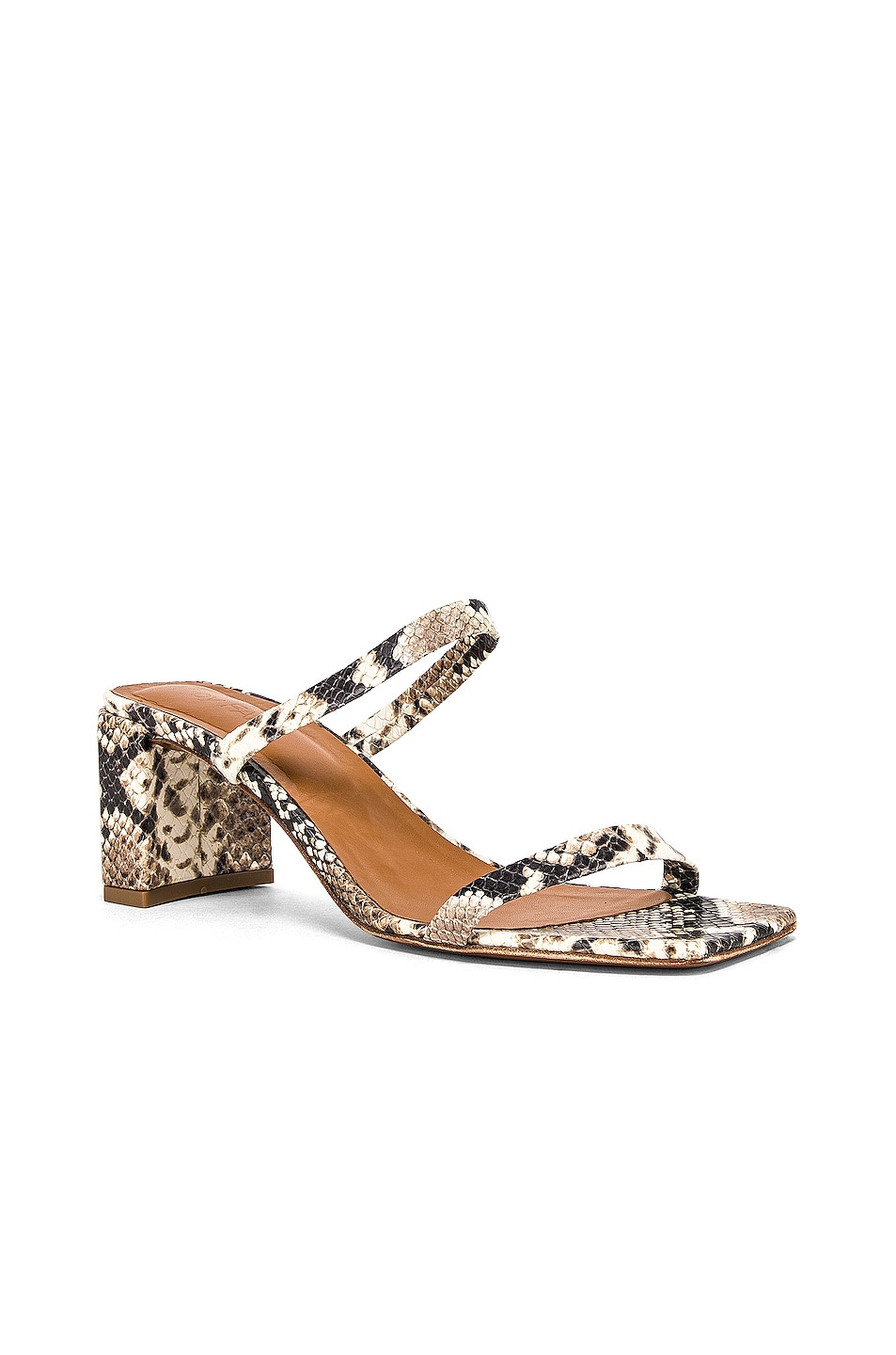 Image 2 of BY FAR Tanya Sandal in Snake Print Leather