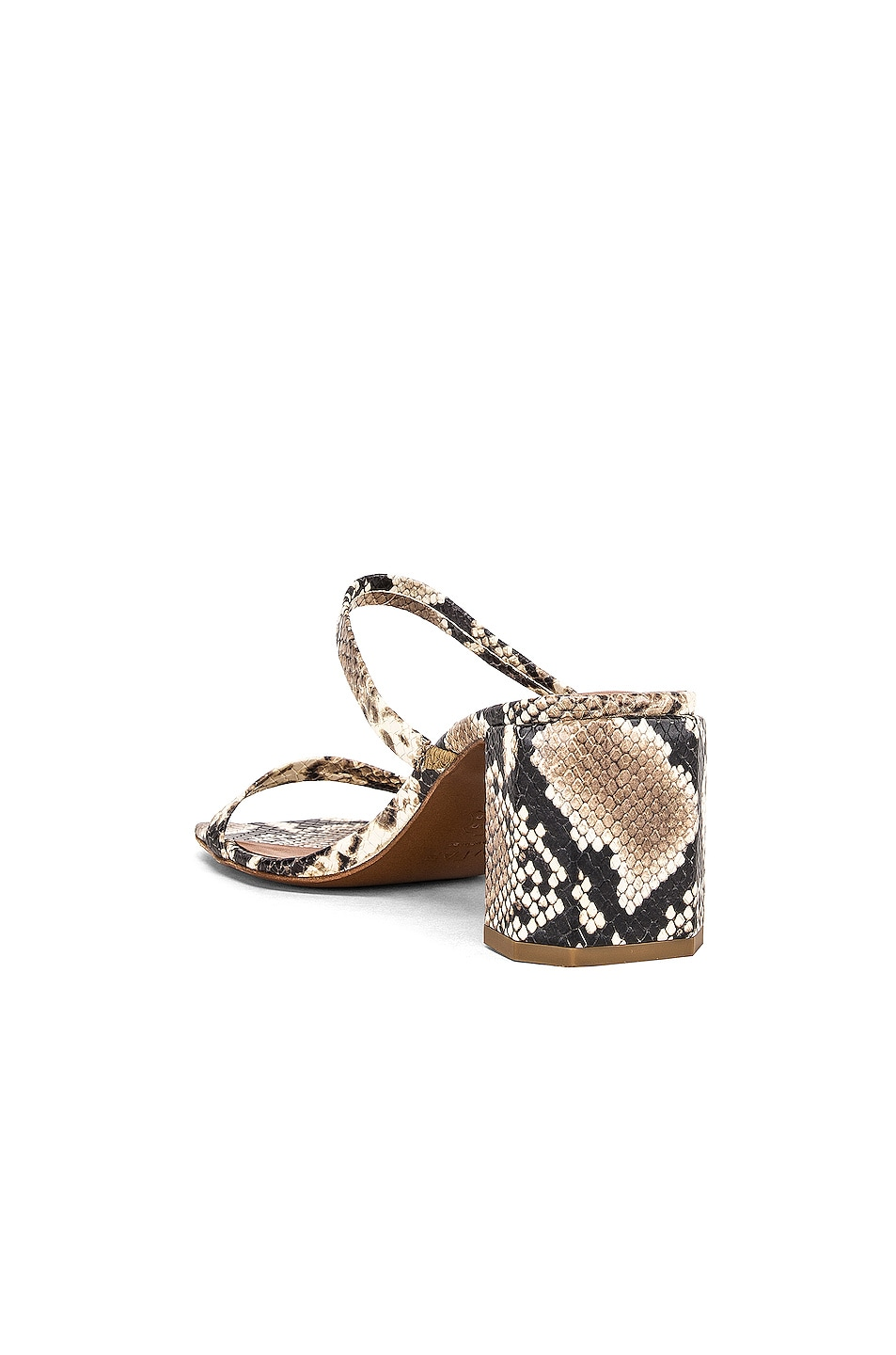 Image 3 of By Far Tanya Sandal in Snake Print Leather