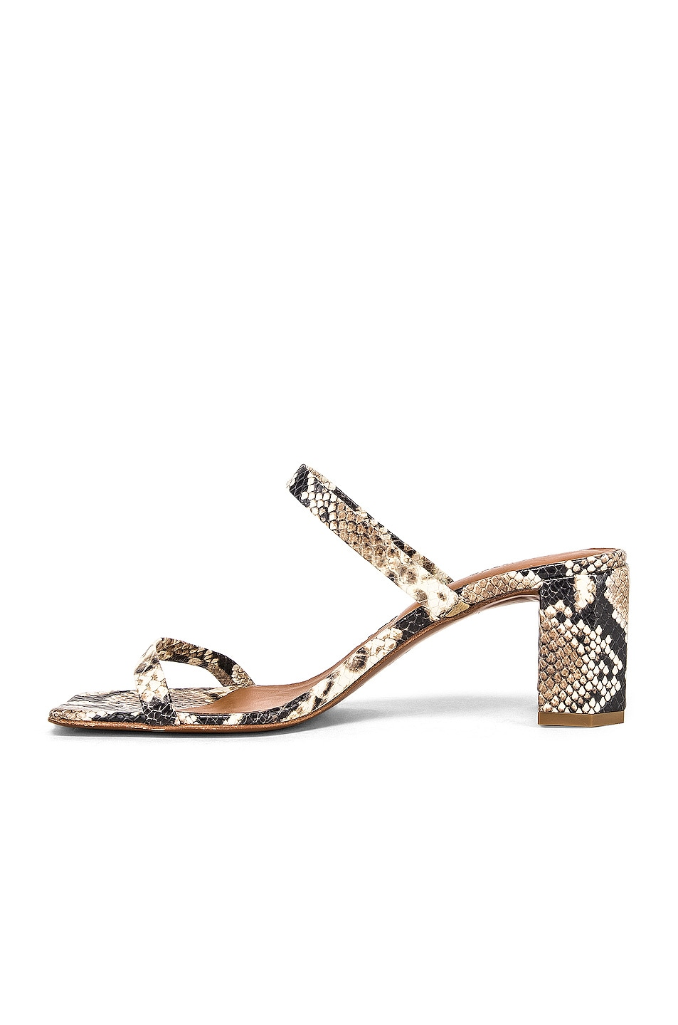 Image 5 of By Far Tanya Sandal in Snake Print Leather