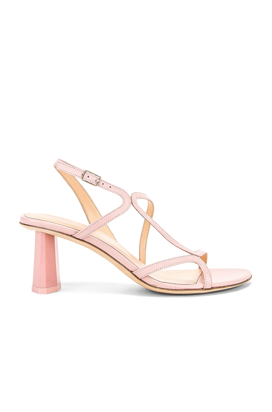 Image 1 of BY FAR Bridgette Sandal in Blush Leather