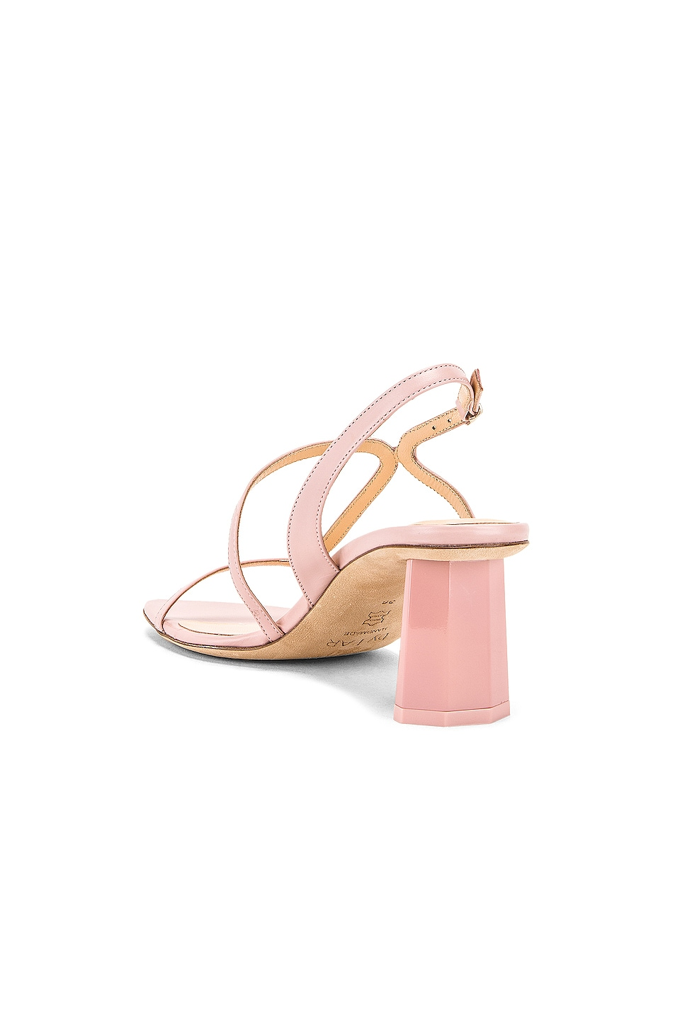 Image 3 of BY FAR Bridgette Sandal in Blush Leather