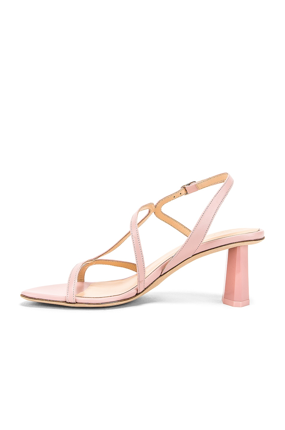 Image 5 of BY FAR Bridgette Sandal in Blush Leather