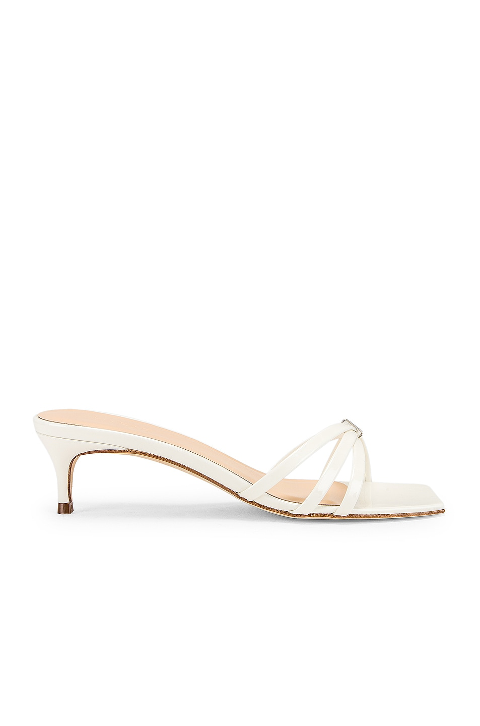 Image 1 of By Far Libra Sandal in White Patent Leather