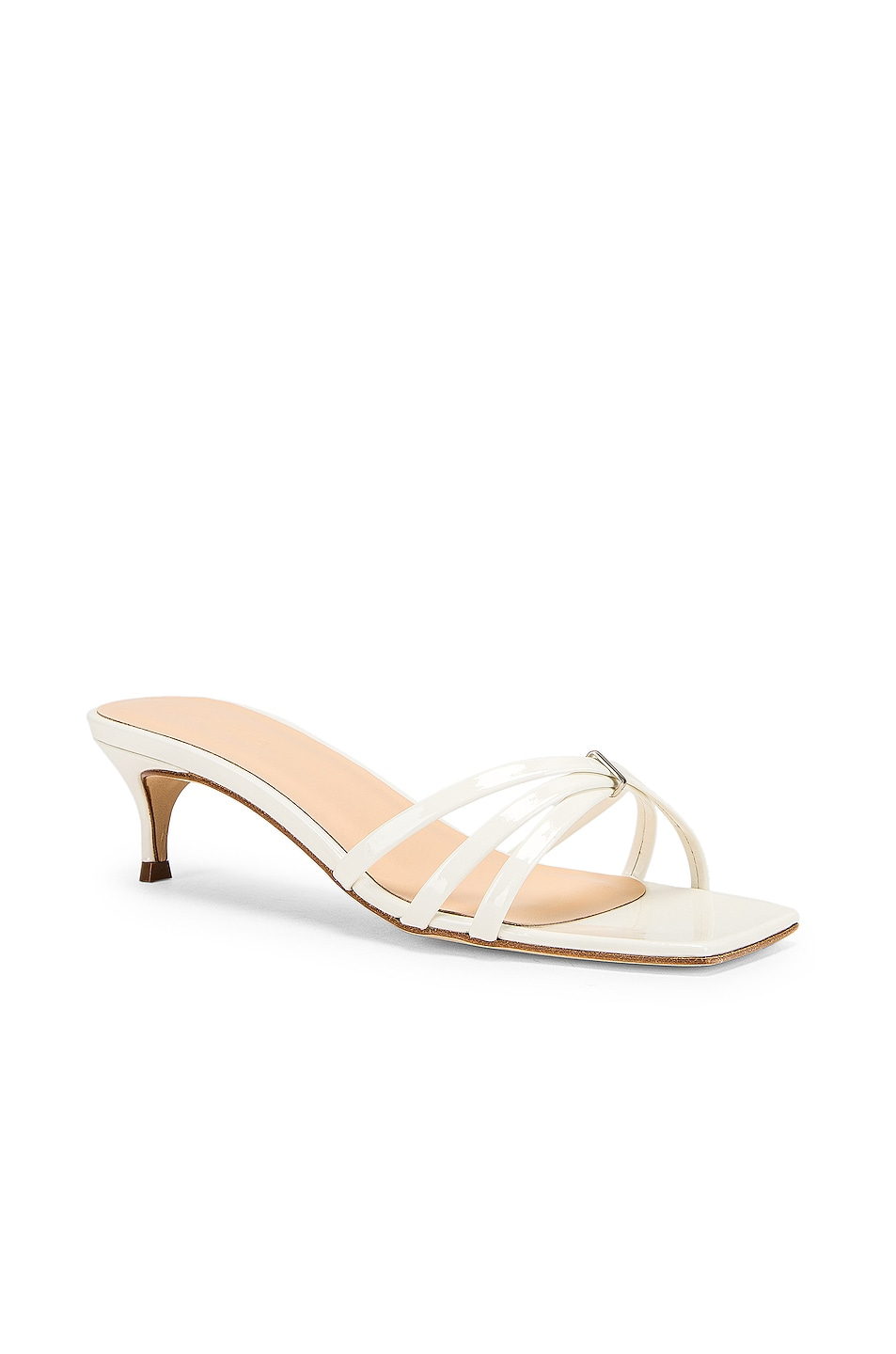 Image 2 of By Far Libra Sandal in White Patent Leather