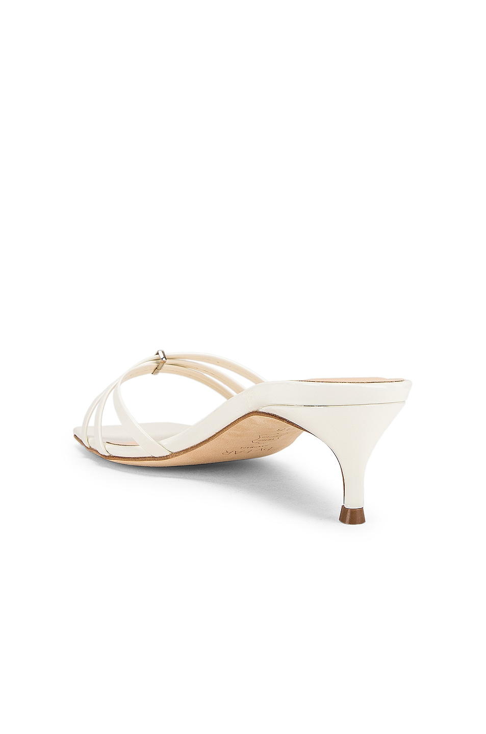 Image 3 of By Far Libra Sandal in White Patent Leather