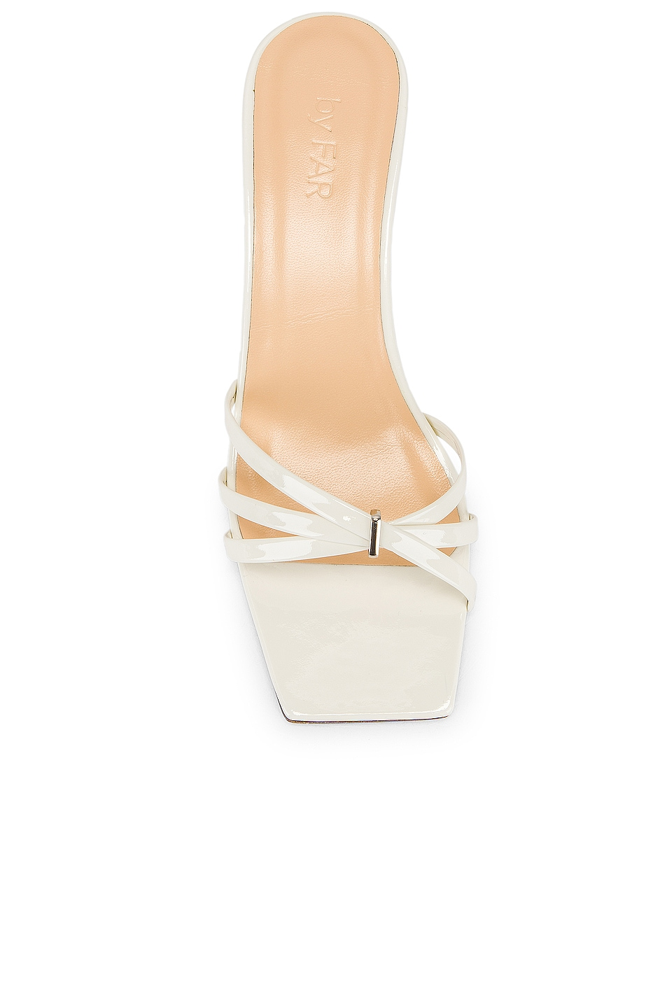 Image 4 of By Far Libra Sandal in White Patent Leather