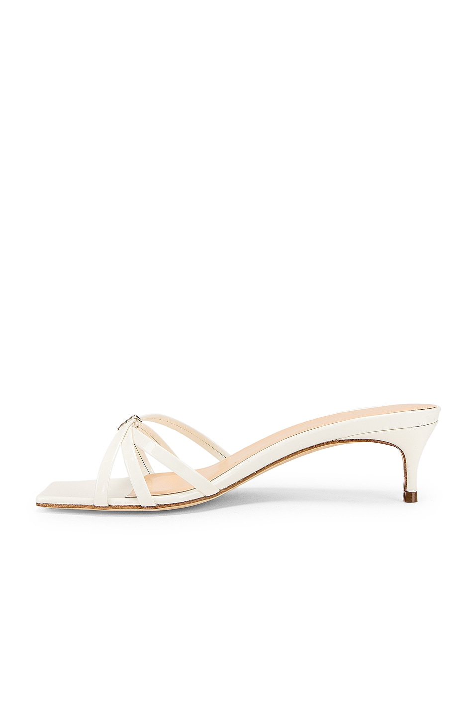 Image 5 of By Far Libra Sandal in White Patent Leather