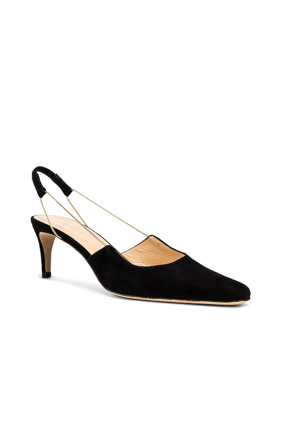 Image 2 of BY FAR Gabriella Suede Leather Pump in Black
