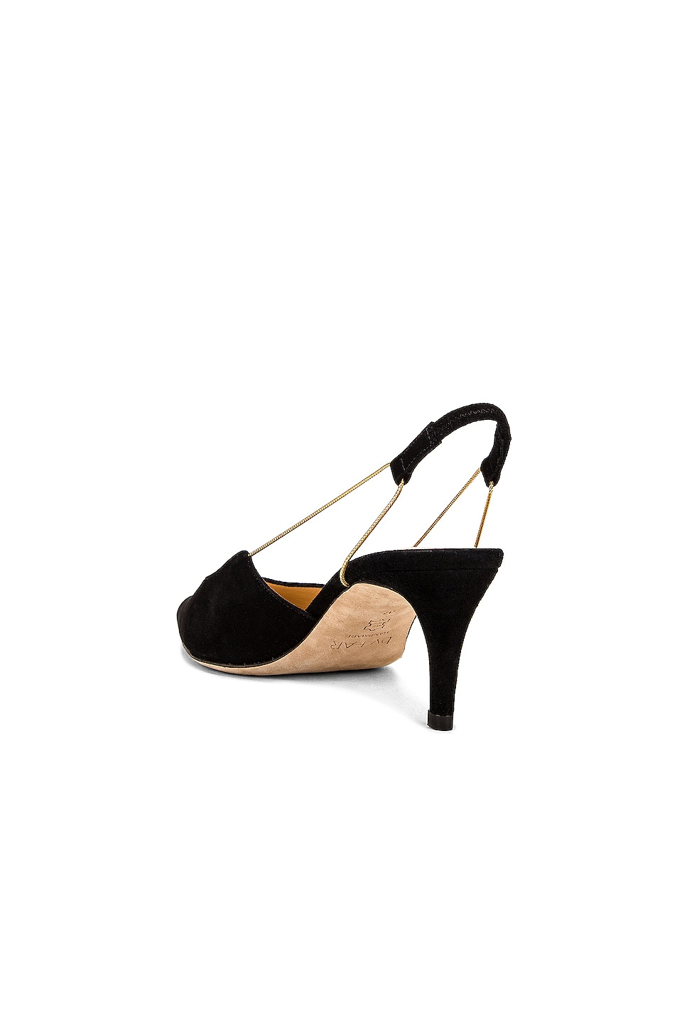 Image 3 of BY FAR Gabriella Suede Leather Pump in Black