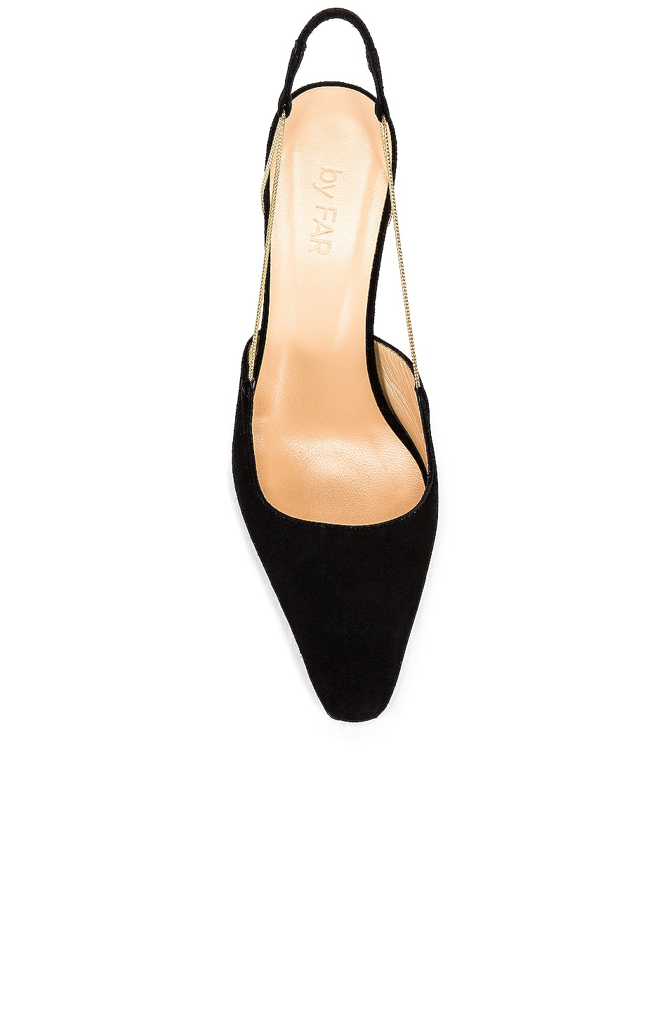 Image 4 of BY FAR Gabriella Suede Leather Pump in Black