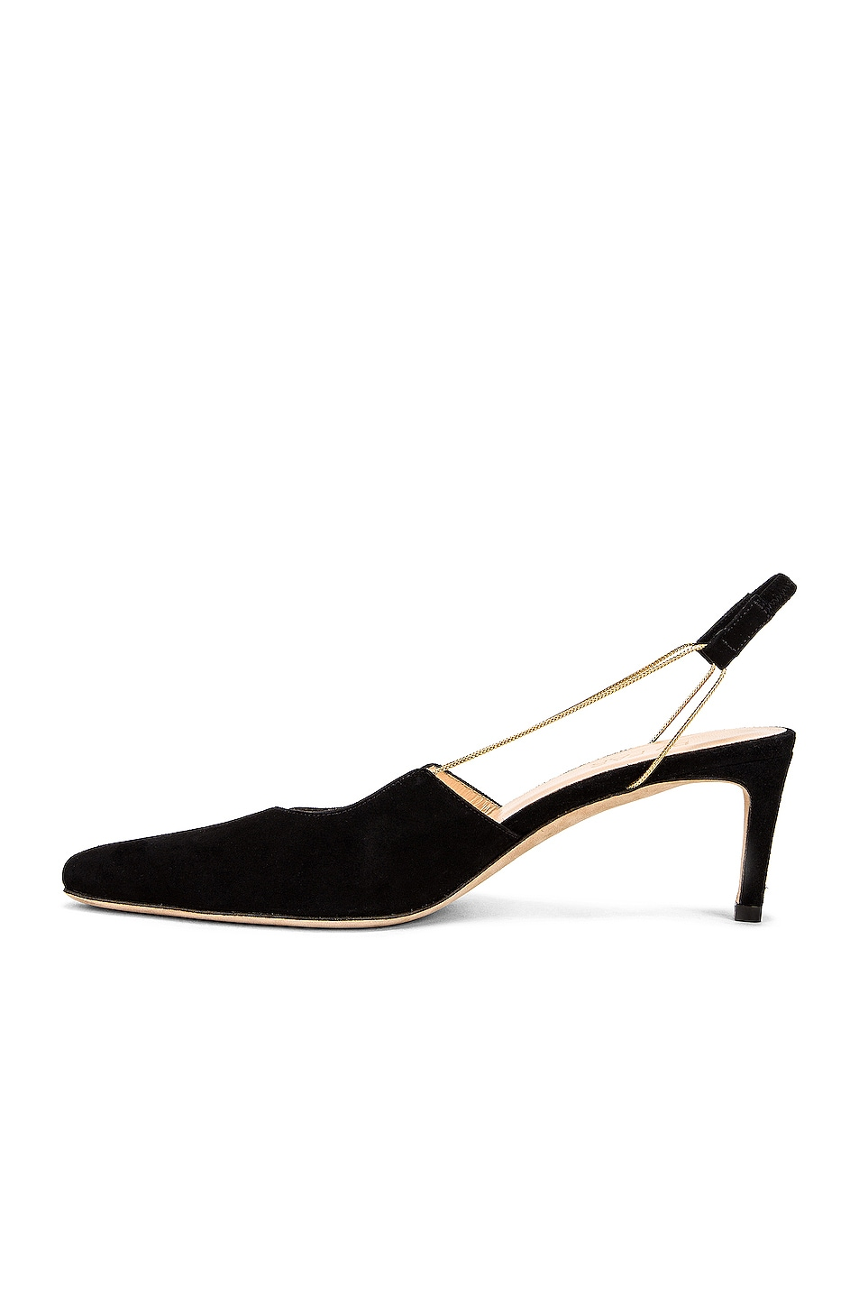 Image 5 of BY FAR Gabriella Suede Leather Pump in Black