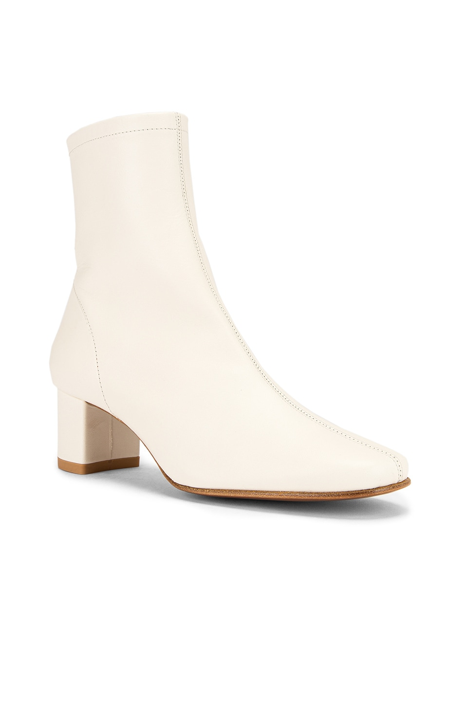 Image 2 of BY FAR Sofia Leather Boot in White