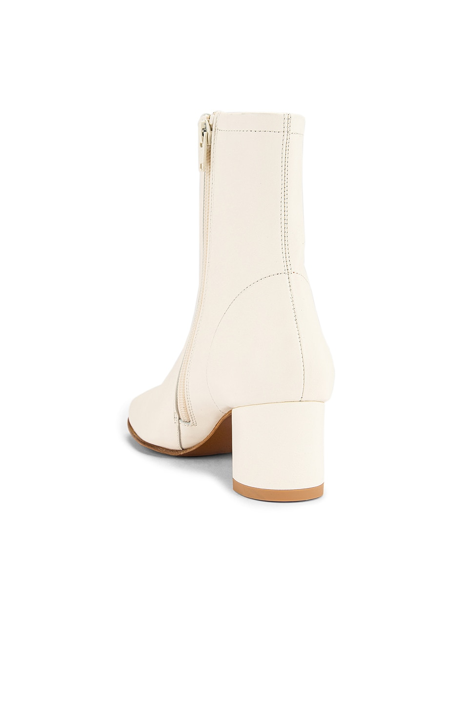 Image 3 of By Far Sofia Leather Boot in White