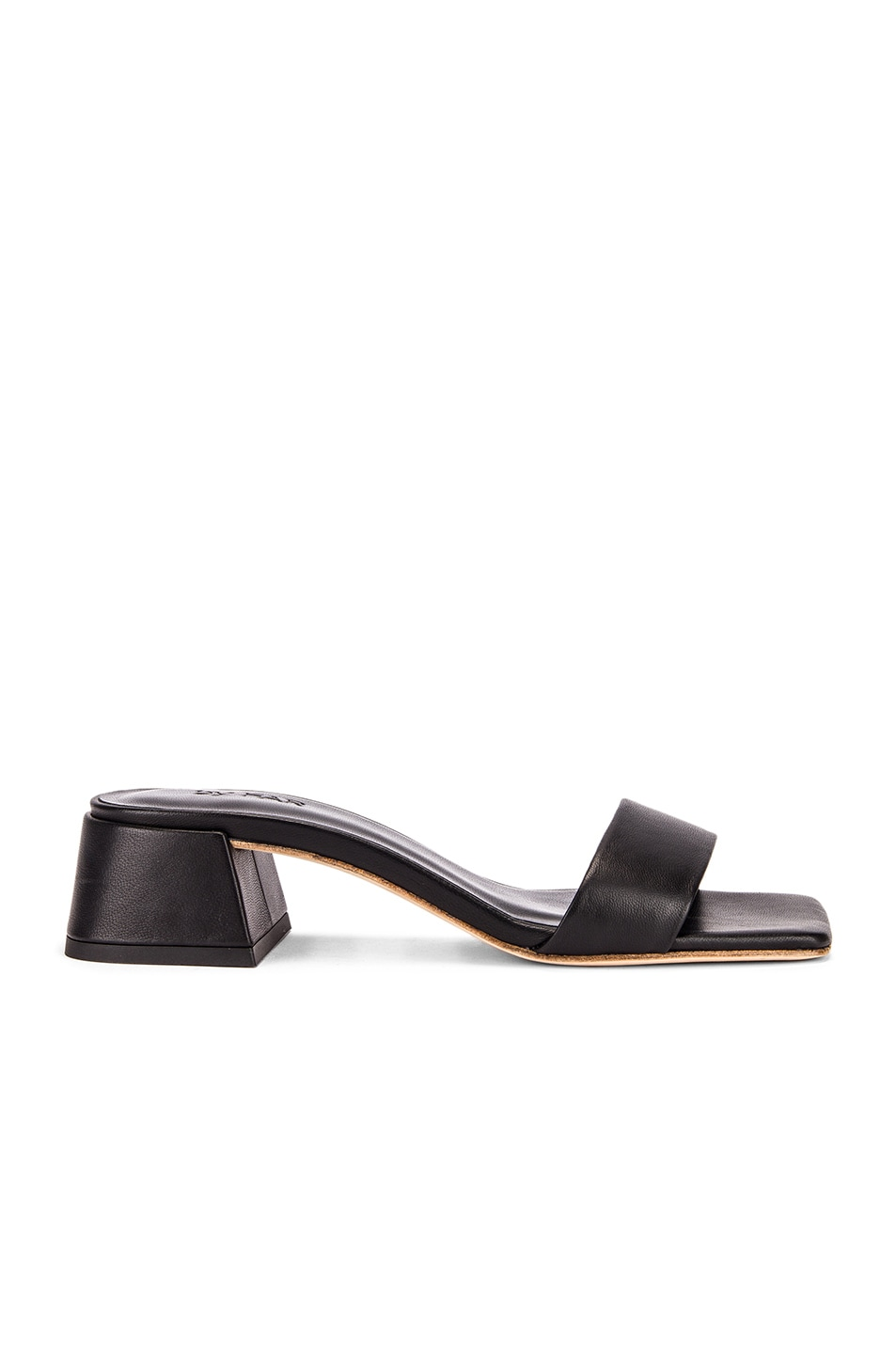 Image 1 of BY FAR Courtney Leather Sandal in Black