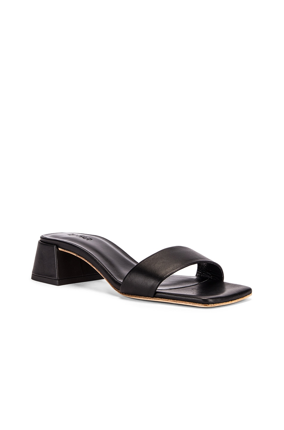 Image 2 of BY FAR Courtney Leather Sandal in Black
