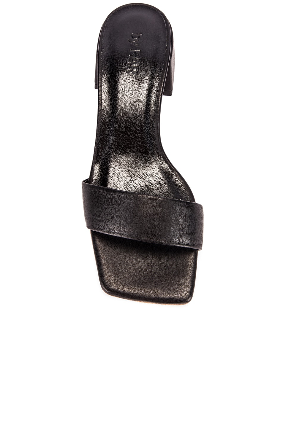 Image 4 of BY FAR Courtney Leather Sandal in Black