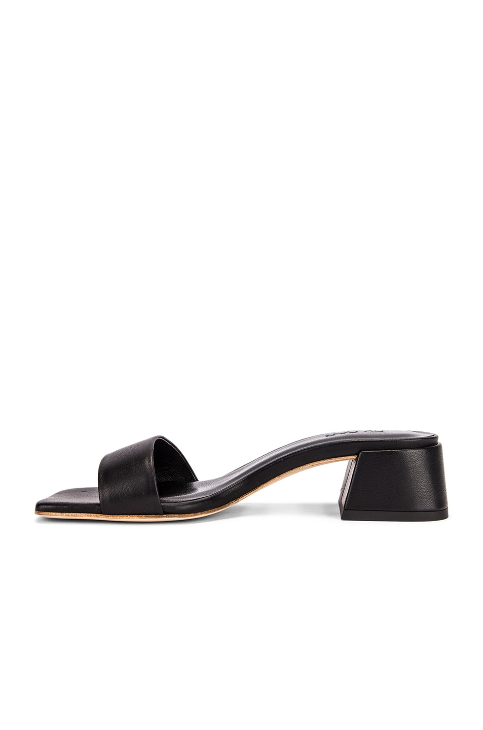 Image 5 of BY FAR Courtney Leather Sandal in Black