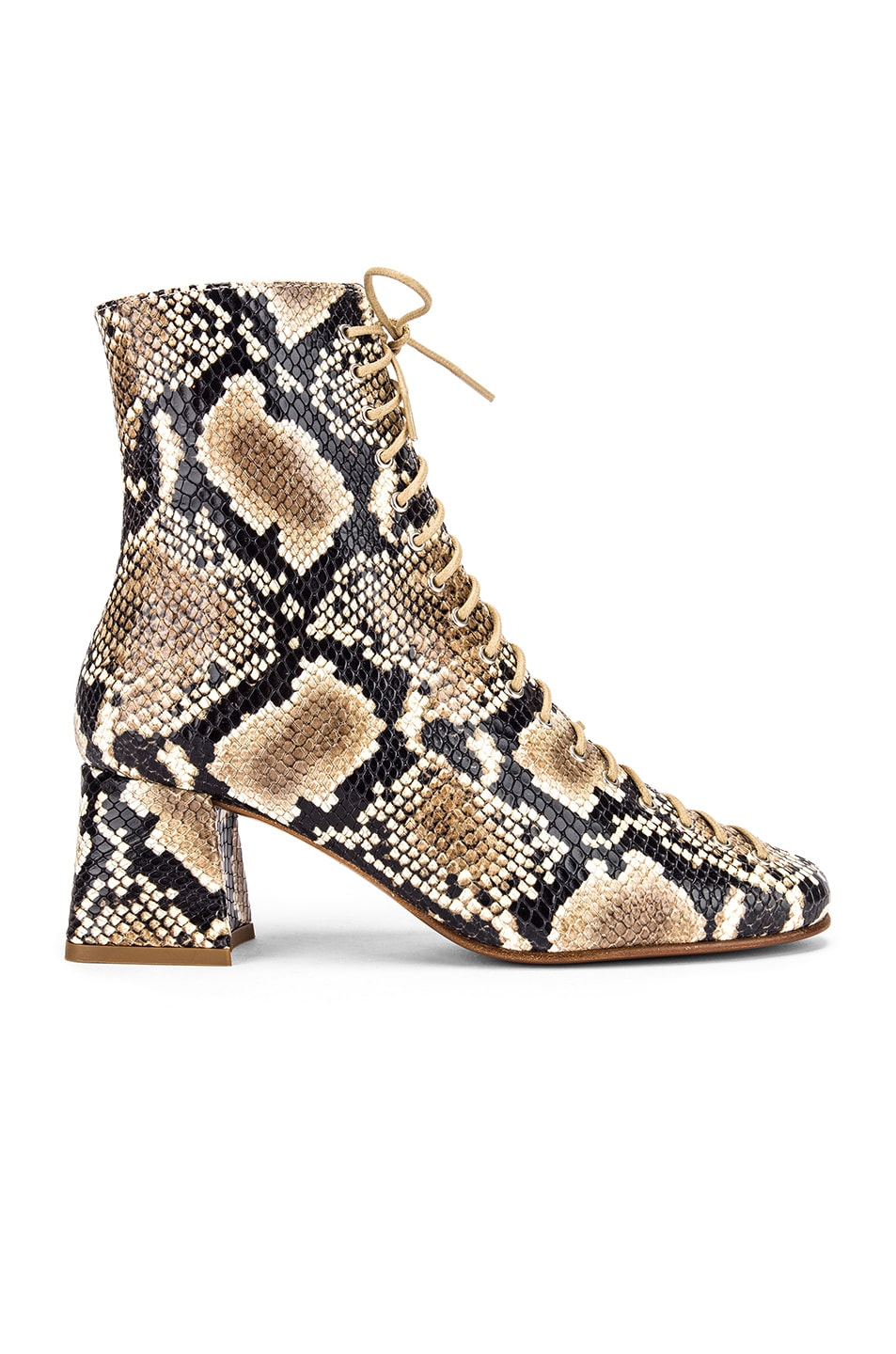 Image 1 of BY FAR Becca Leather Boot in Snake Print
