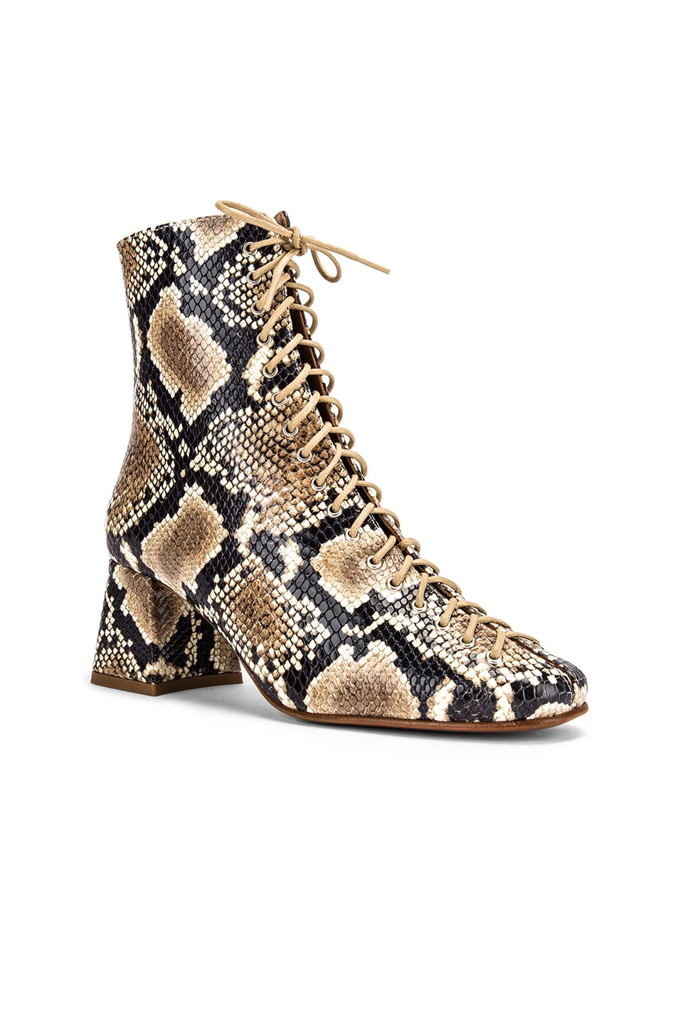 Image 2 of BY FAR Becca Leather Boot in Snake Print