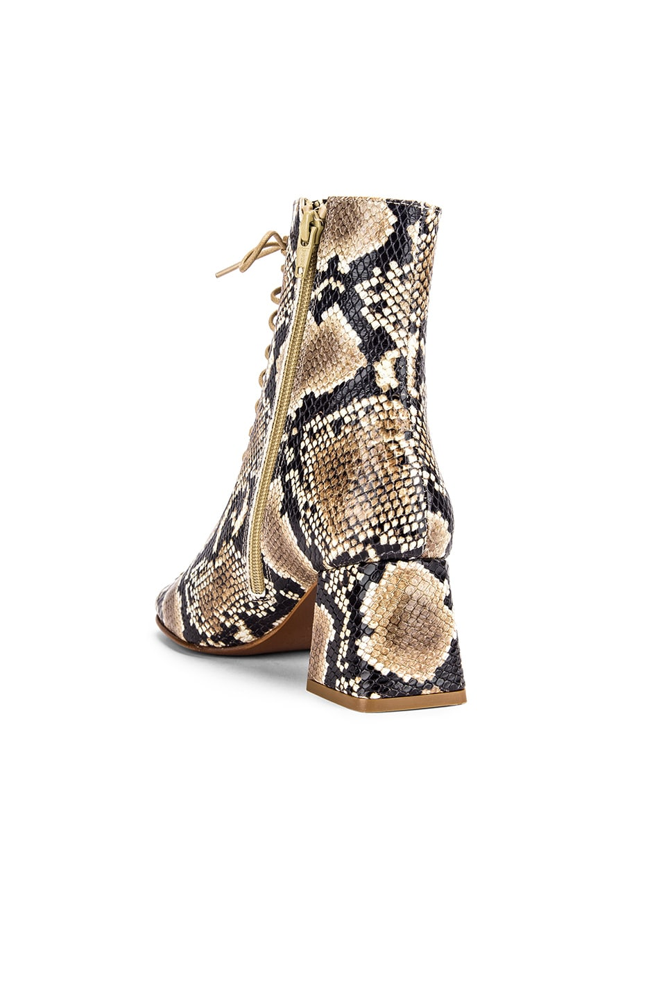 Image 3 of BY FAR Becca Leather Boot in Snake Print