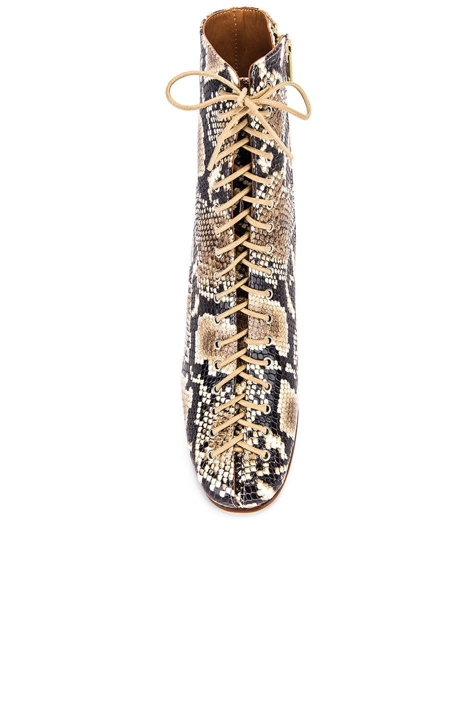 Image 4 of BY FAR Becca Leather Boot in Snake Print