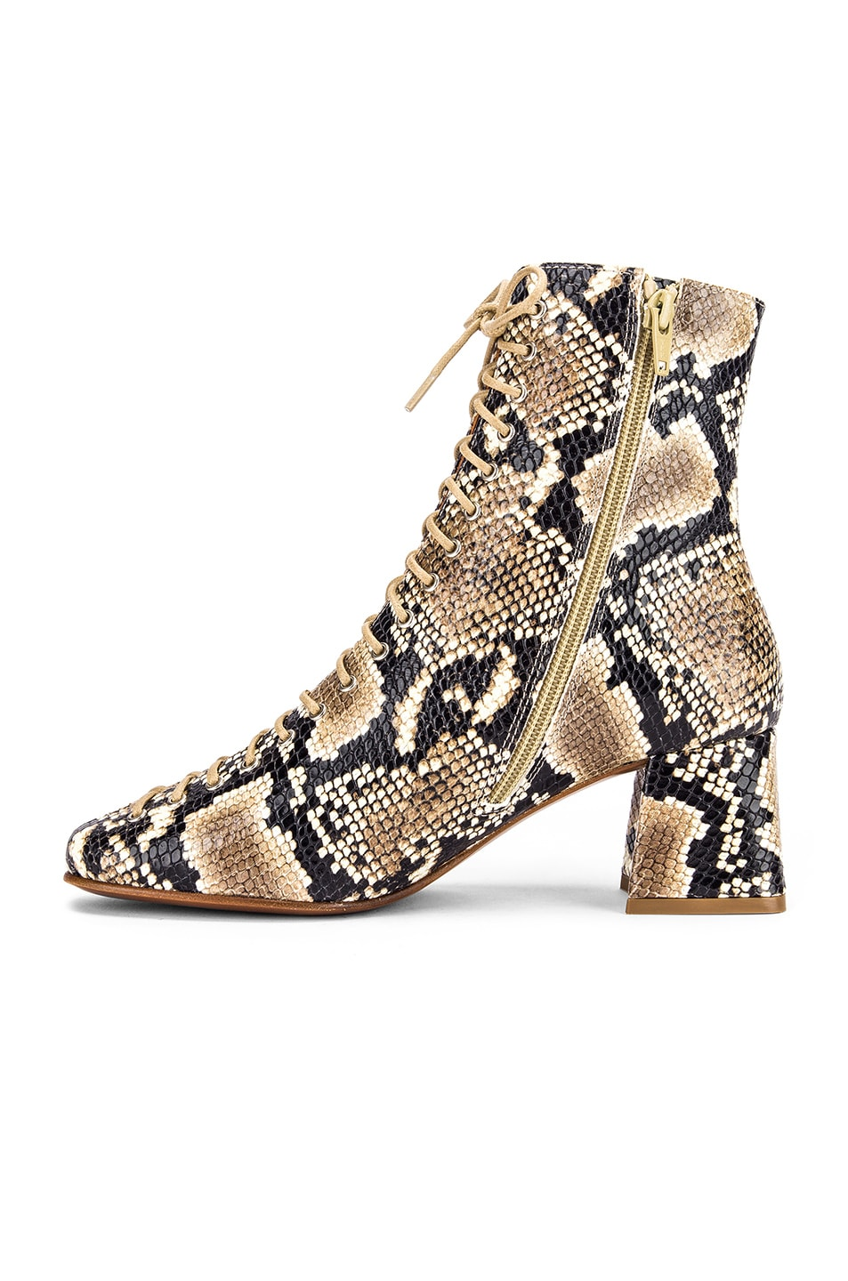 Image 5 of BY FAR Becca Leather Boot in Snake Print