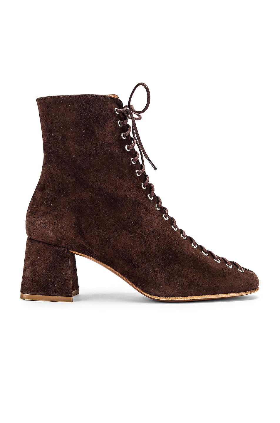 Image 1 of BY FAR Becca Suede Boot in Brown