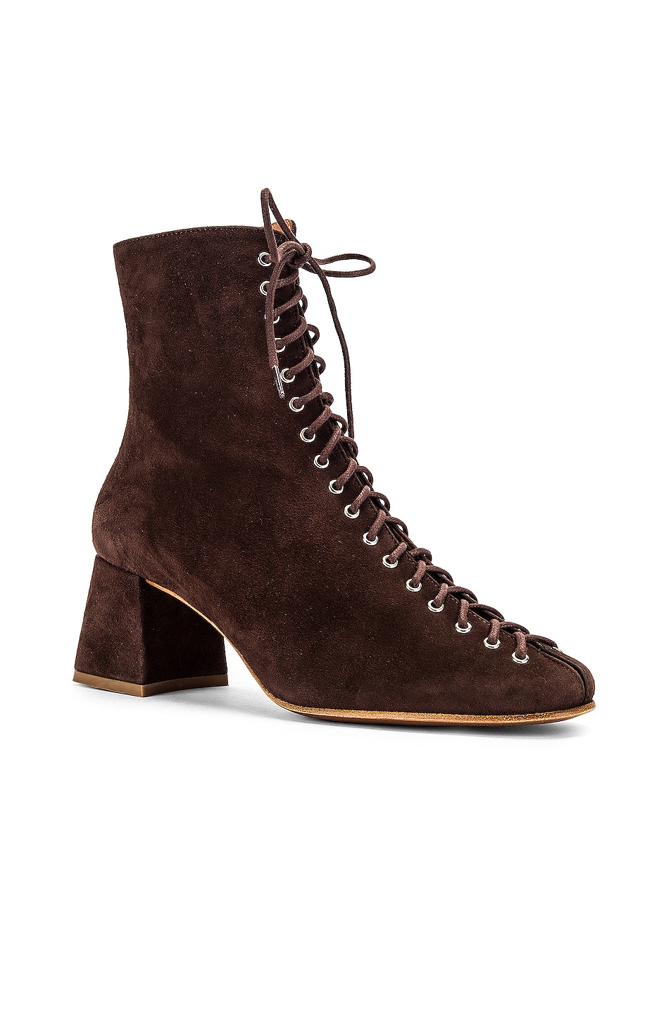 Image 2 of BY FAR Becca Suede Boot in Brown