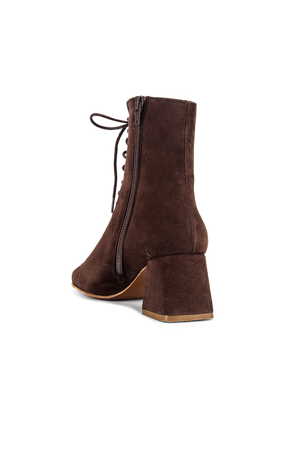Image 3 of BY FAR Becca Suede Boot in Brown