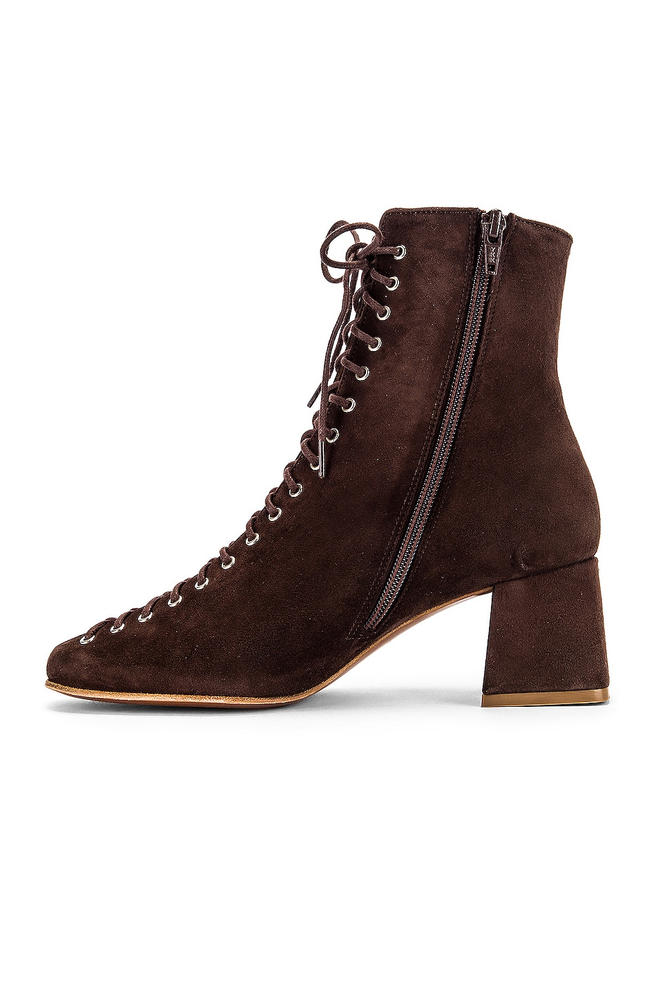 Image 5 of BY FAR Becca Suede Boot in Brown