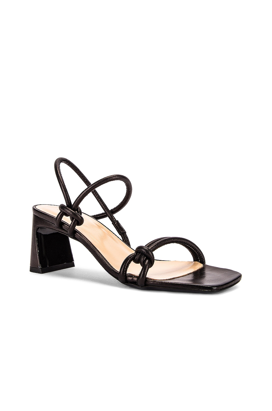 Image 2 of BY FAR Charlie Leather Sandal in Black