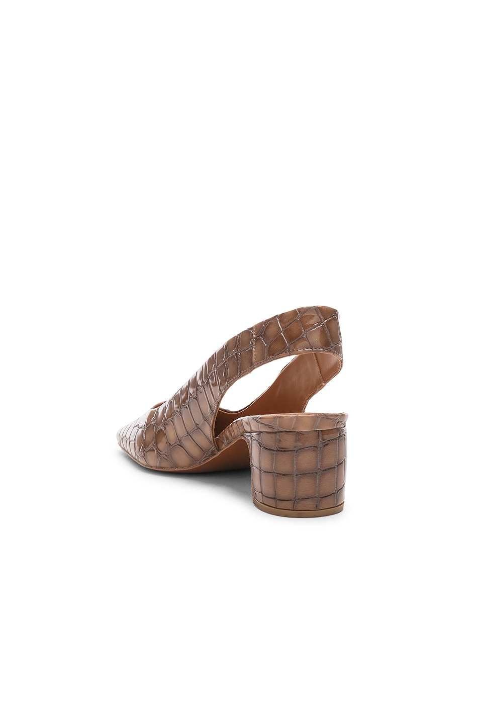 Image 3 of BY FAR Danielle in Brown Croc Embossed Patent